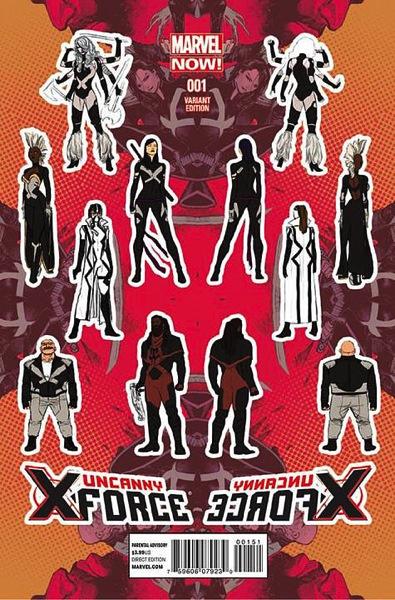 Uncanny X Force 1 Cover Design Variant 73b89