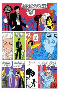 "A page from Jim Steranko's ""My Heart Broke in Hollywood,"" from Our Love Story, 1970"