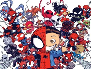 Spider-Man - Spider-Verse variant cover by Skottie Young