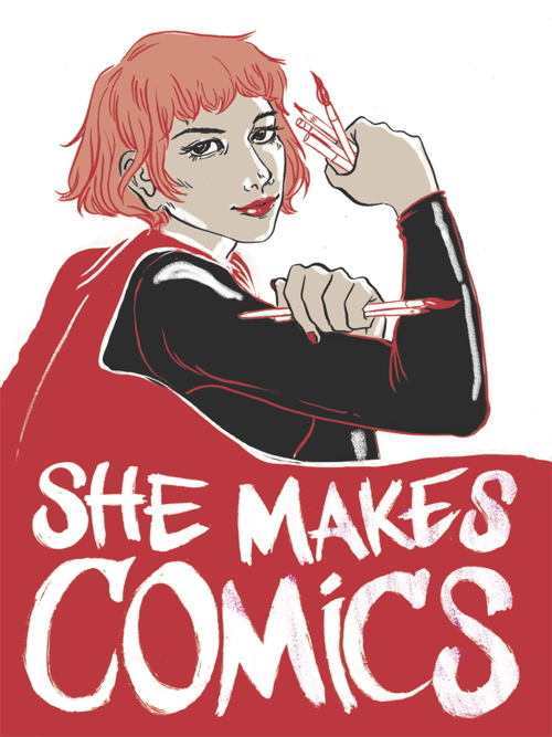 She Makes Comics Logo Medium