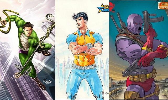 नागराज, सुपर कमांडो ध्रुव और डोगा साभार: राज कॉमिक्स