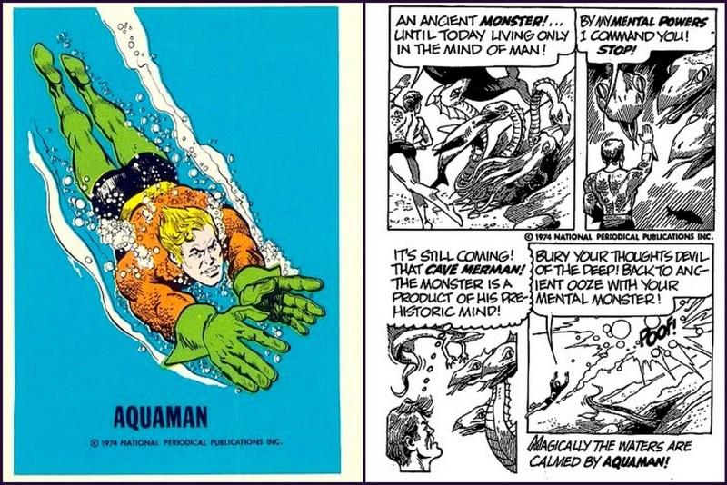 Aquaman - Justice League  DC Comics Trading Card - Comic Strip
