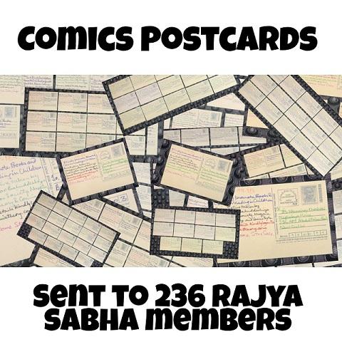 Comics Post Cards - Sent To Rajya Sabha Members