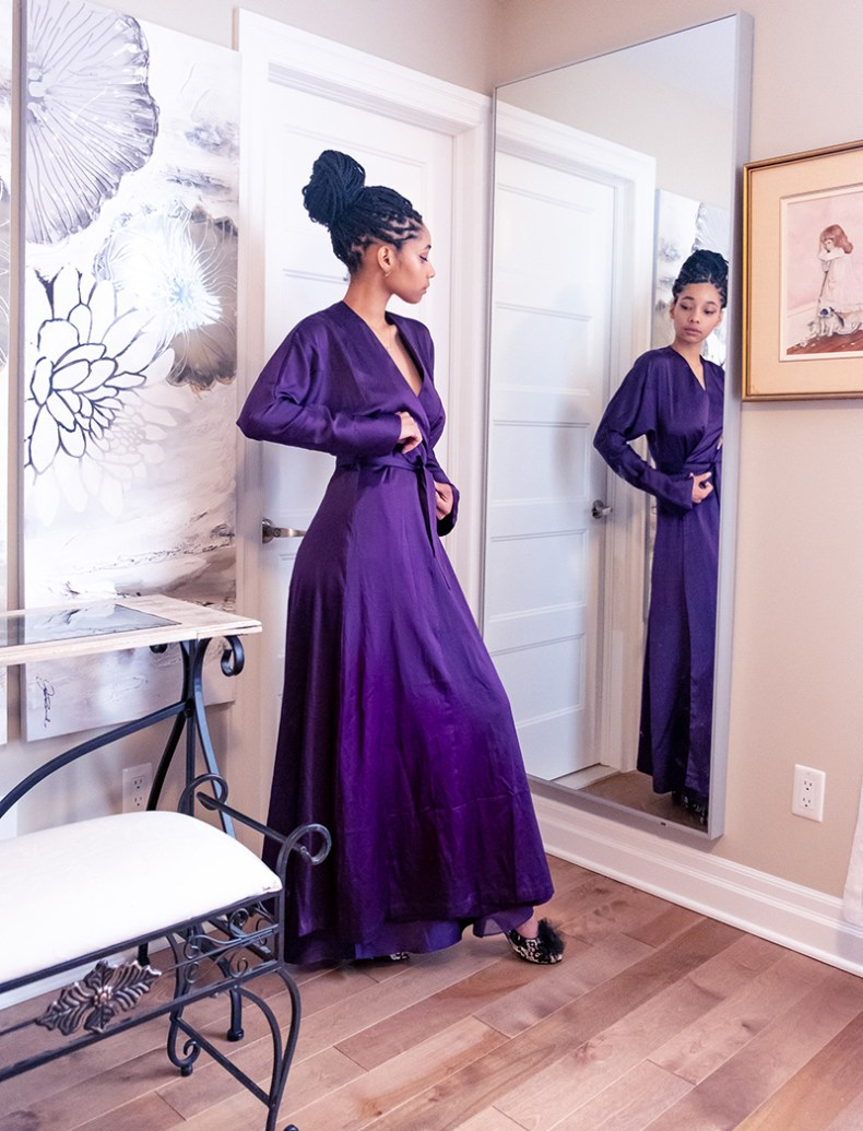 Kiss me deadly PLUM LEONIE robe