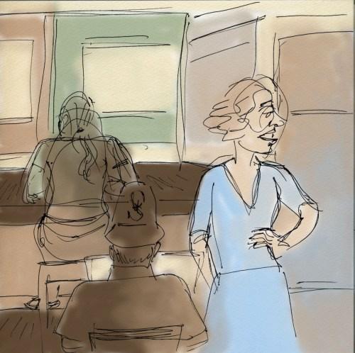 Conversation in a Café