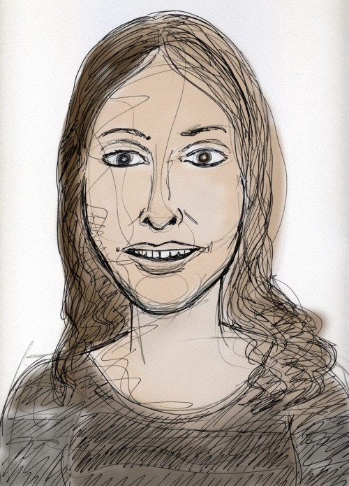 Portrait of Meredith Clark during our conversation.