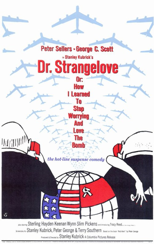 """Doctor Strangelove""  Movie Poster. Artwork by Tomi Ungerer."