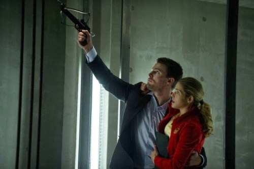 Stephen Amell and Emily Bett Rickards on ARROW