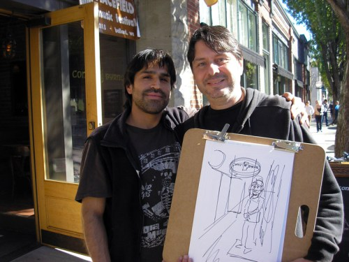 A new friend made, at Conor Byrne pub, during my 24-hour comics journey in Ballard, Washington