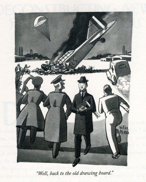 """Peter Arno's """"Well, back to the old drawing board,"""" from 1941"""
