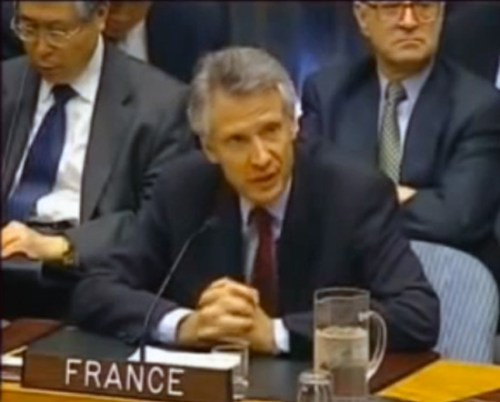 French Foreign Minister Dominique de Villepin, United Nations, 14 February 2003