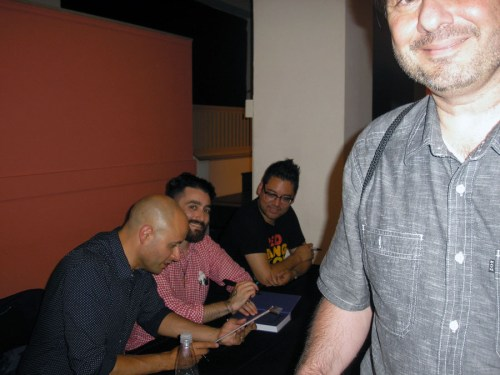 Colorist Nathan Fairbairn, Drawing Assistant Jason Fischer, Bryan Lee O'Malley, and me