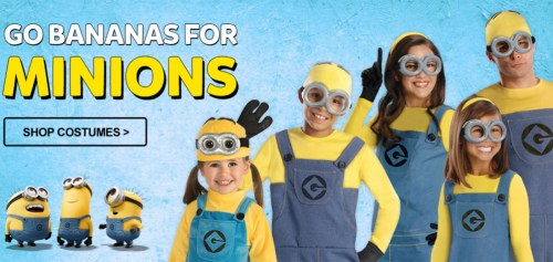Minions costumes available at PureCostumes.com
