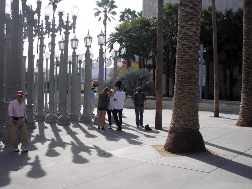 "Chris Burden's ""Urban Light,"" at LACMA"