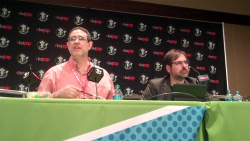 Steve Lieber and Robert Salkowitz at ECCC 7 April 2016