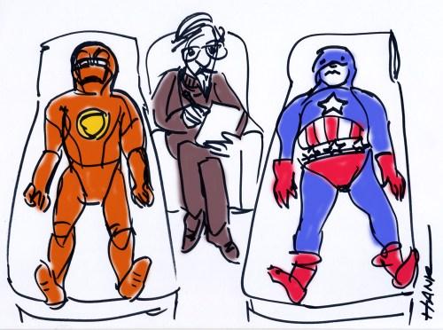 Superheroes at Odds