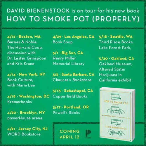 HOW TO SMOKE POT (PROPERLY) Book Tour