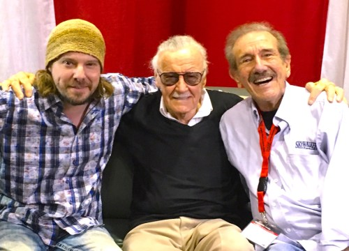 Spencer F. Lee, Stan Lee, and Kerry O'Quinn
