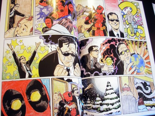 Even more pages from DEADPOOL: DRAWING THE MERC WITH A MOUTH