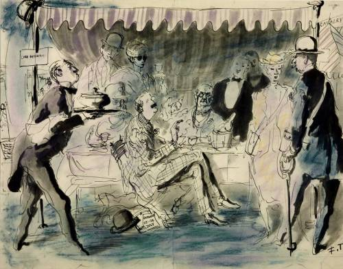 """The Goodwood Races,"" 1939, by Feliks Topolski (1907-1989)."