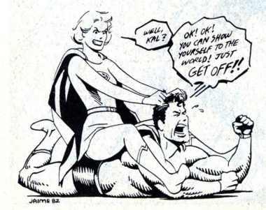 Супердевушка злиться на Супермена