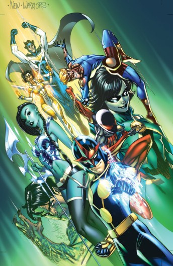 New Warriors #1 Variant Cover by Scott Campbell