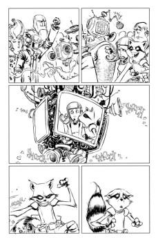 Rocket Raccoon #1 Preview 3 Art by Skottie Young