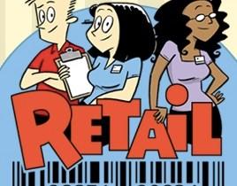 Retail comic logo