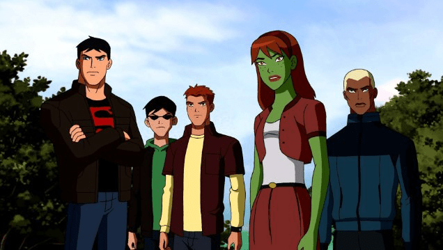 The Young Justice team
