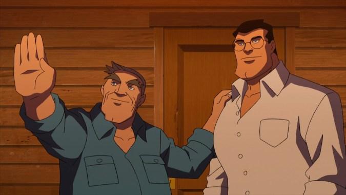 Jonathan and Clark Kent in Superman vs. the Elite