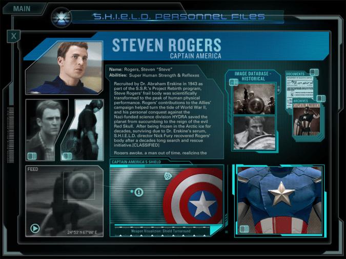 Avengers Second Screen screenshot for Captain America