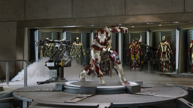 Iron Man armors in Iron Man 3