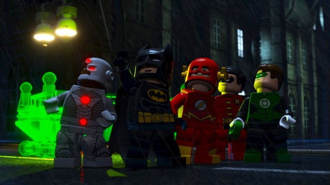 The Justice League in Lego Batman: The Movie