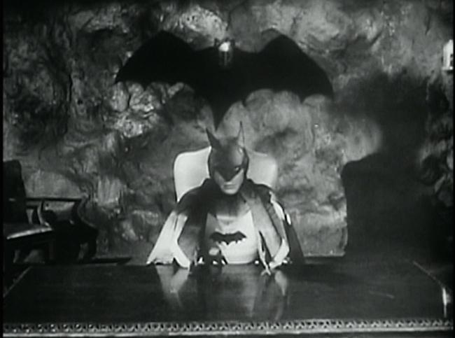 Batman in his cave