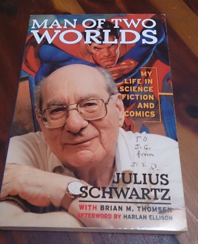 Man of Two Worlds signed by Julius Schwartz