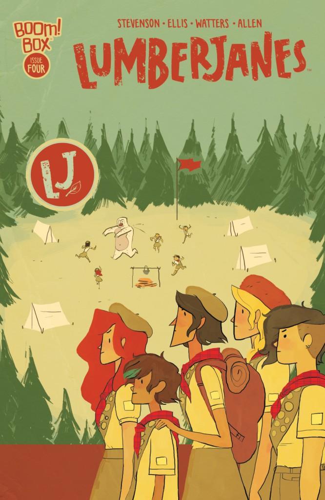 Lumberjanes #4 cover by Noelle Stevenson