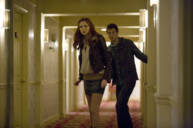 Amy and Rory in the God Complex hotel