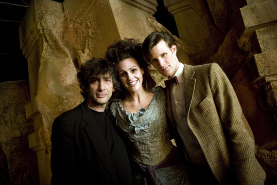 Neil Gaiman, Suranne Jones, and Matt Smith in Doctor Who: The Doctor's Wife