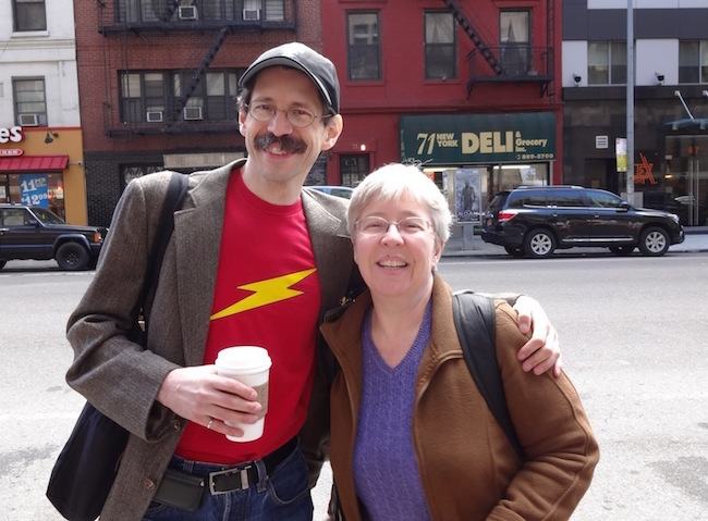 Gary Tyrrell and Brigid Alverson at MoCCA Fest 2014