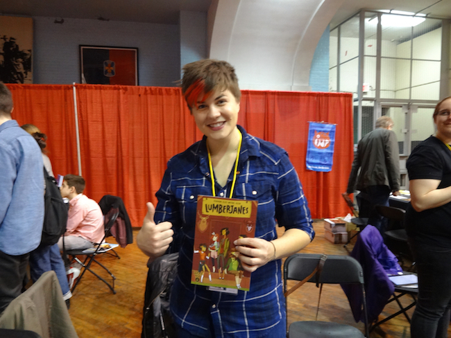 Shannon Watters debuted Lumberjanes at MoCCA Fest 2014