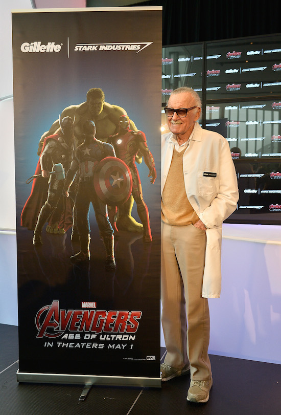 Stan Lee at the Gillette Avengers razor event