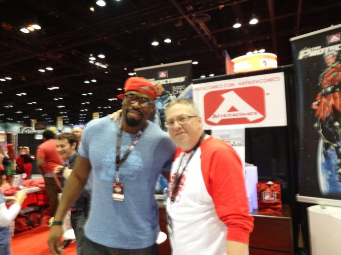 Israel Idonije and Ron Marz at C2E2