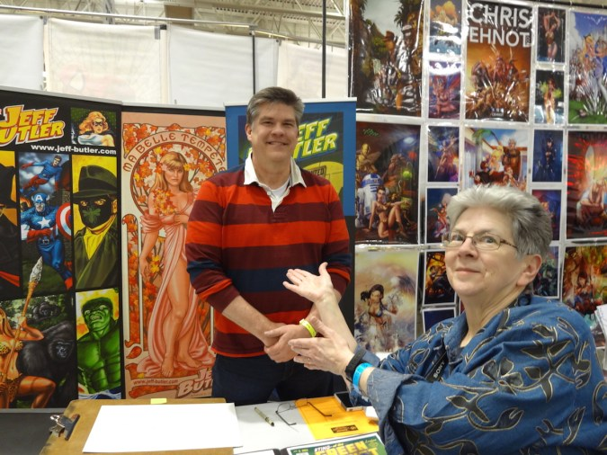 Jeff Butler and Maggie Thompson at Wizard World Madison 2015