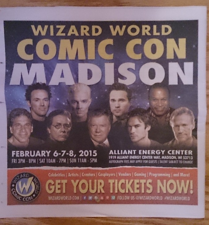 Wizard World Madison ad