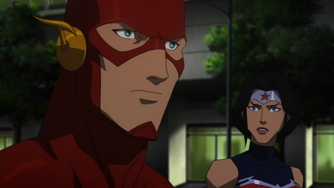 Flash and Wonder Woman in Justice League: War