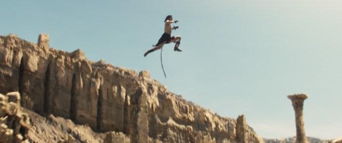 John Carter jumps on Mars