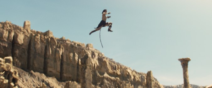 John Carter jumps on Mars