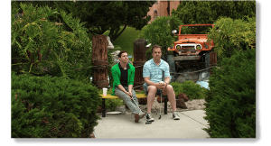Blake Bashoff and Michael O'Keefe in Finding Neighbors