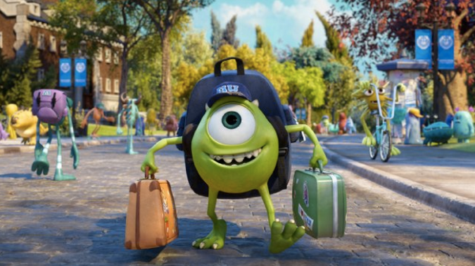 Mike goes to college in Monsters University