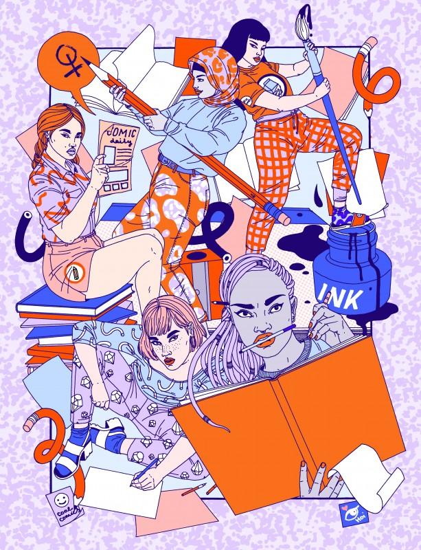 Comix Creatrix art by Laura Callaghan